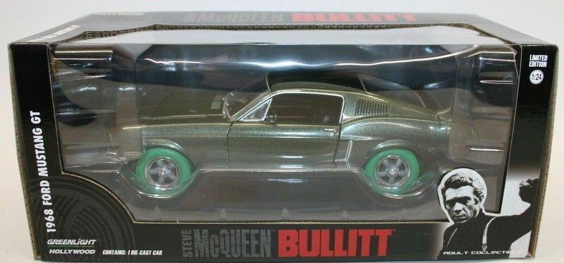 verdelight Chase 84041 Steve McQueen 1968 Mustang GT con neumáticos de verde Escala 1 24