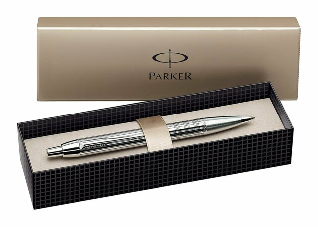 Parker IM Premium Shiny Chrome Chiselled Luxury Ballpoint Pen S0908660/ Gift Box