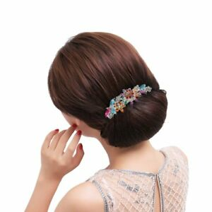Belles-bijoux-Fleurs-Clips-de-cheveux-en-cristal-pour-pinces-A-cheveux-Ou-J6M1