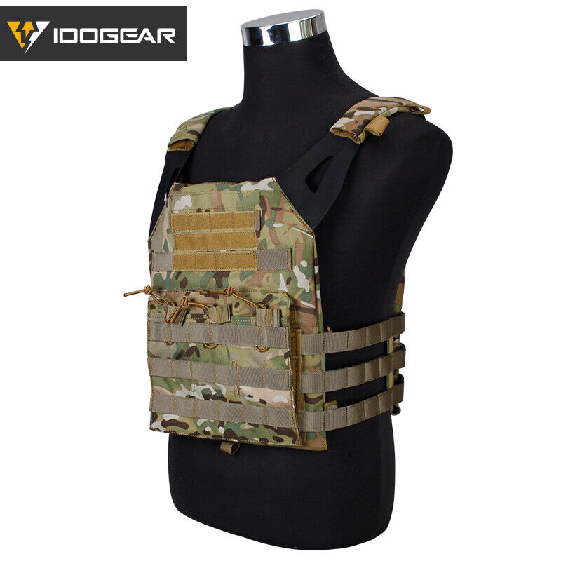 Idogear Veste tactique Airsoft Gilet JPC Plaque Carrier wargame militaire Gear Camo