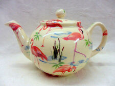 Flamingo design 2 cup teapot by Heron Cross Pottery