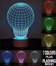 Optical Illusion 3D Bulb Lamp