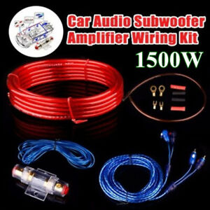 8GA-Audio-Subwoofer-Sub-AMP-RCA-Car-Amplifier-Wiring-Kit-Power-Cable-AGU-FUSE