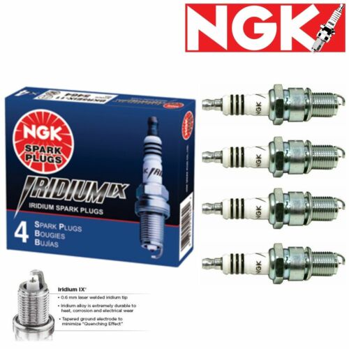 Engine 4 Genuine NGK Iridium IX Spark Plugs for 1960-1963 Porsche 356B 1.6L H4