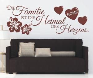 X4548-Wandtattoo-Spruch-Familie-Heimat-des-Herz-Sticker-Wandaufkleber-Aufkleber