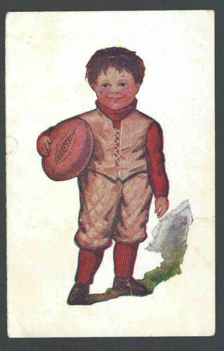 1911 PPC Boy Wearing Football Outfit & Carrying A Football