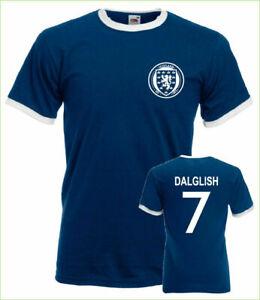 KENNY-DALGLISH-SCOTLAND-Ringer-T-shirt-Dalglish-7-Sports-Adultes-Tee-Top