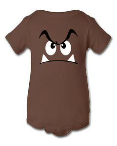 Image is loading Goomba-Super-Mario-Inspired-Infant-Baby-Newborn-Onesie-  sc 1 st  eBay & Goomba Super Mario Inspired Infant Baby Newborn Onesie Crawler ...