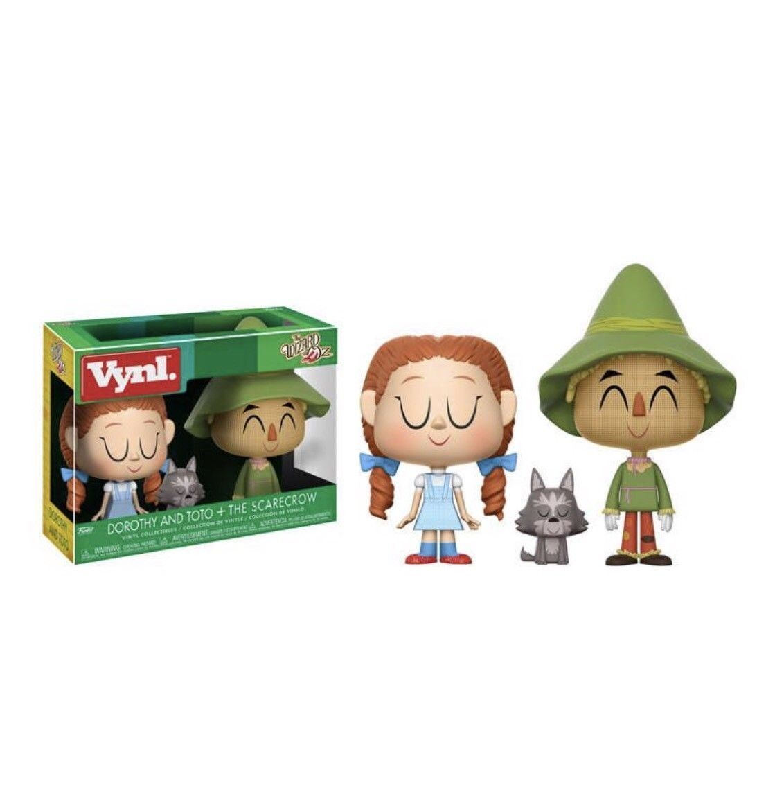The Wizard of Oz DGoldthy ToTo & Scarecrow 3-Pack Pack Vinyl 3.75   Figur FUNKO