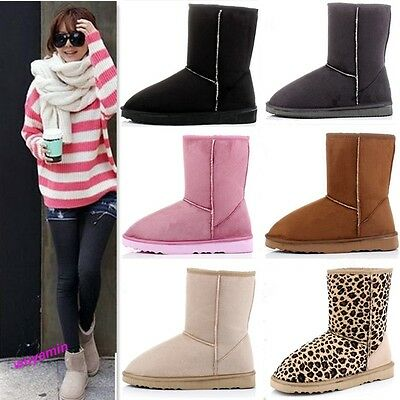 Girls Stylish 6 Colors & 5 Size Women Winter Warm Snow Boots Cute Ankle Shoes
