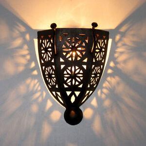 Orientalische-Eisen-Lampe-Wandlampe-MAROKKO-Schirm-Orient-Wandschirm-BOHA-K