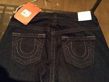 "True Religion Retro Farrah Womens Black Flared Jeans W 31  Leg 36"" WH52D41SE"