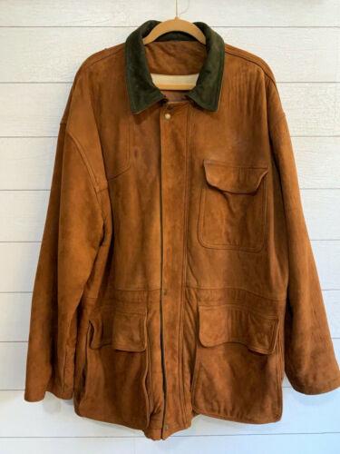 Vintage Coach Barn Coat Jacket 100% Leather Brown
