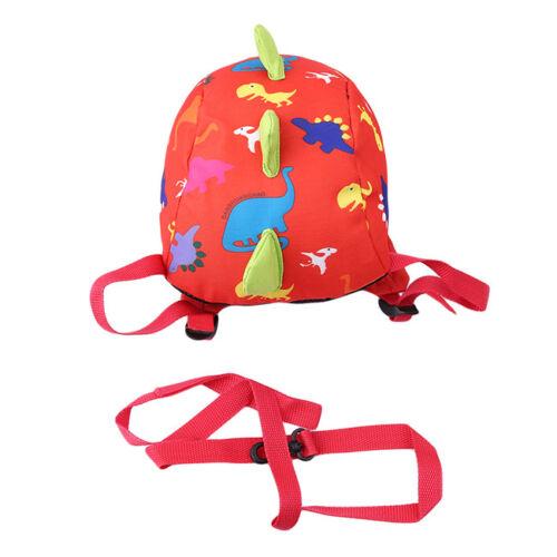 Dinosaur Pattern Baby Kids Mini Cartoon Animal Waterproof Nyon Backpack CS