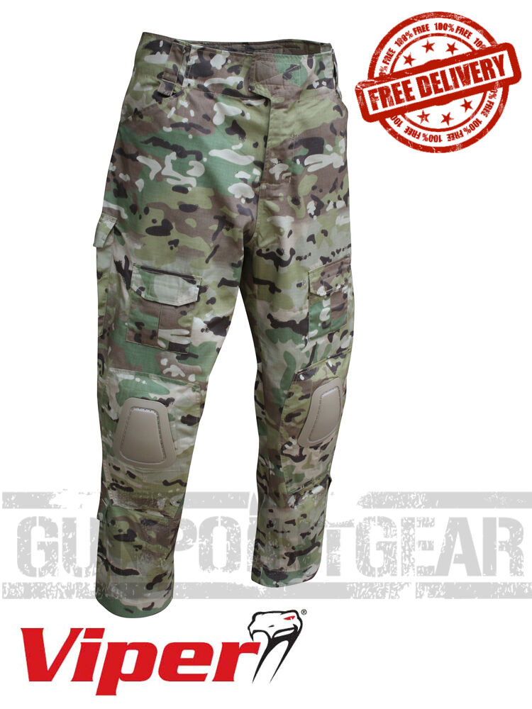 Viper Tactical Elite Combat Trousers w Knee Pads Airsoft Paintball VTRSEL VCAM