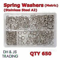 Assorted Box Spring Washers Stainless Steel Metric M5 M6 M8 M10 Qty 650 Washer