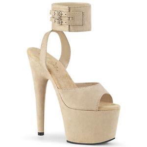 """PLEASER Adore-714 7/"""" Heel Sandals"""