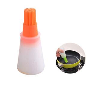Details about Heat Resistant Oil Bottle Brush Food Grade Silicone Basting  Brushes ~Orange