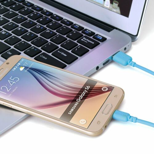 1m Quality Micro USB Noodle Anti Tangle Data Charging Sync Cable Lead✔Purple