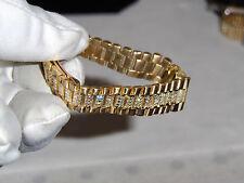 "ROLEX LADIES SOLID ""FACTORY18K DIAMOND BAND"" APROX. 37.6 GRAMS DIAMONDS FACTORY"