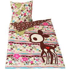 Skelanimals Doe Deer Floral Esqueleto Reversible simple juego de cama edredón cubrir