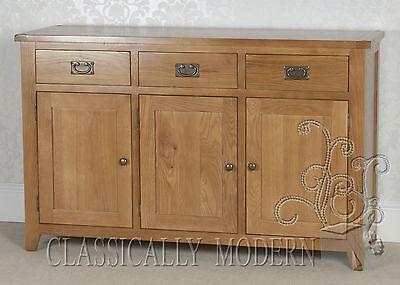 Solid Rustic Oak Cartmel 3 Door 3 Drawer Large Sideboard SLIGHT SECOND!!!