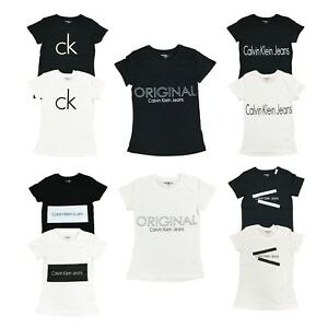 Calvin-Klein-Womens-CK-Logo-Crew-Neck-T-Shirt-Short-Sleeve-Graphic-Tee-Shirt-Top