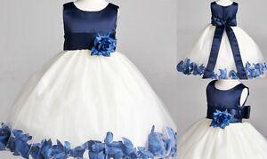 Easter Yellow Rose Petal Spring Pageant Recital Wedding Flower Girl Dress #22