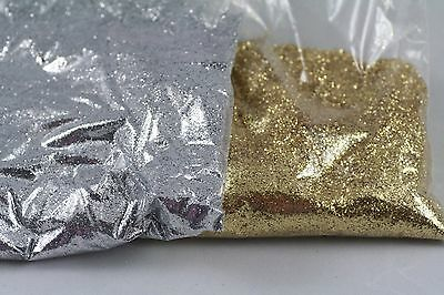 SCRAPBOOKING Nail Art Crafts Holographic Glitter Silver Gold Floristry dust 1kg