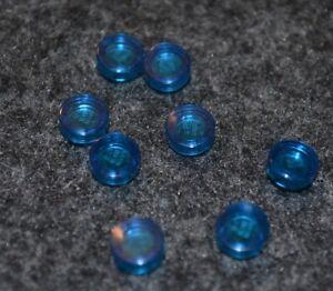 1x1 Dark Blue Translucent Round Plate Bricks ~ Lego ~ NEW ~ 15