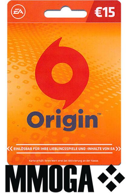 origin guthaben karte Electronic Arts Origin Guthaben Karte 15 Euro Gamecard günstig