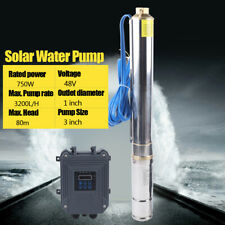 3 Dc Deep Well Solar Water Pump Bore 48v 750w Submersible Mppt Controller Kit