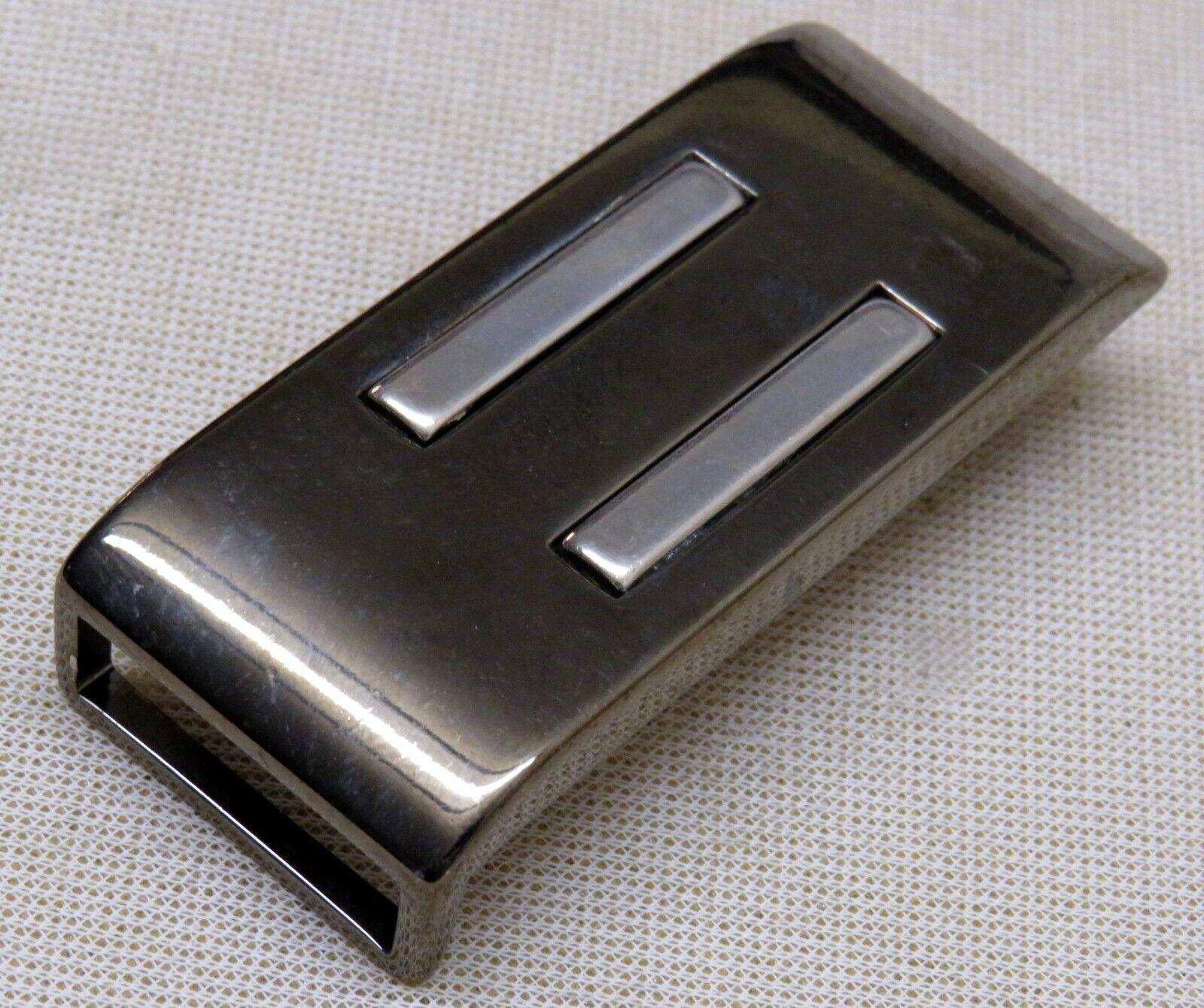 GÜRTELSCHNALLE Metall für 2,5cm breite GÜRTEL Elegant MATTSILBER/Schwarz Neu 1A#