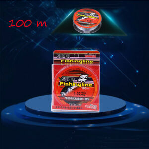 100M-Super-Strong-100-Fluorocarbon-Monofilament-Nylon-PA-Fishing-Line-0-8-6LB