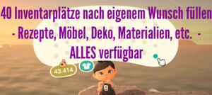 Animal-Crossing-New-Horizons-grosses-Wunschpaket-ganzes-Inventar-fuellen