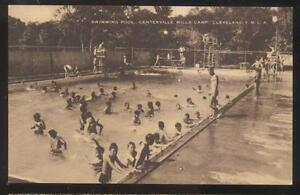 Postcard Cleveland Ohio Oh Centerville Mills Ymca Camp Swimming Pool 1930 39 S Ebay