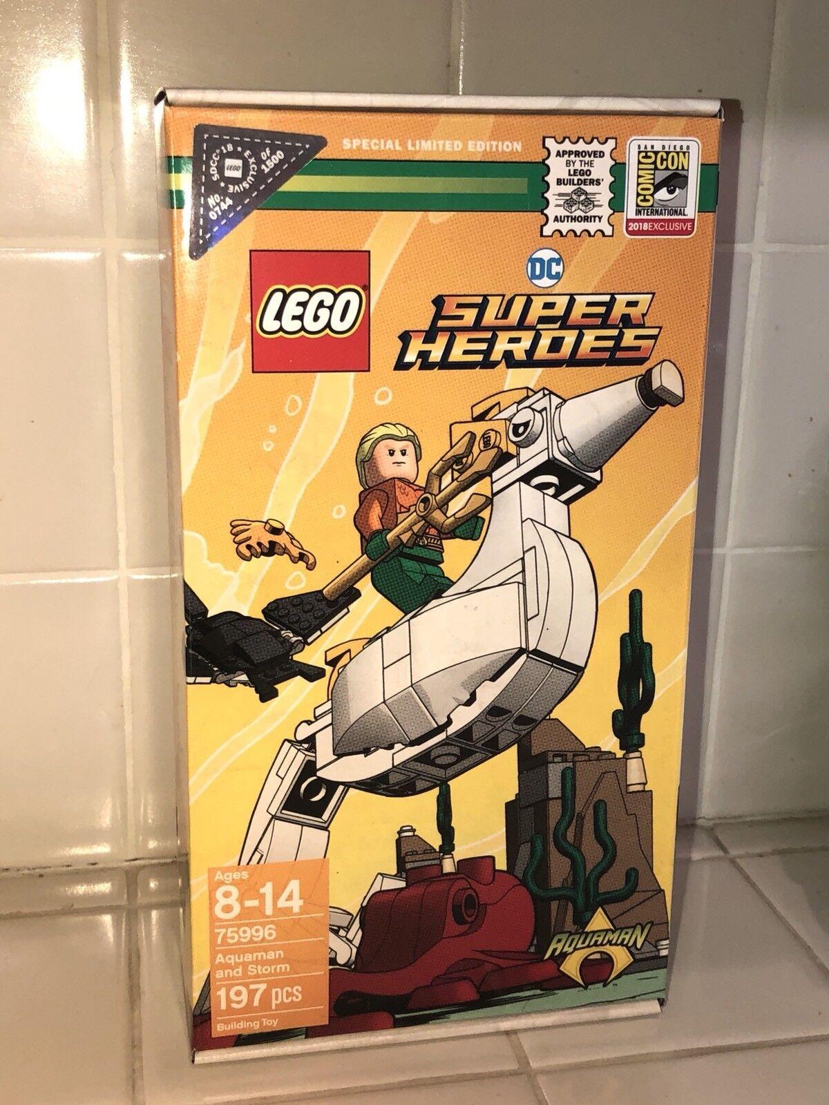 2018 SDCC EXCLUSIVE LEGO DC SUPER HEROES AQUAMAN AND STORM SET 1500 PCS RARE
