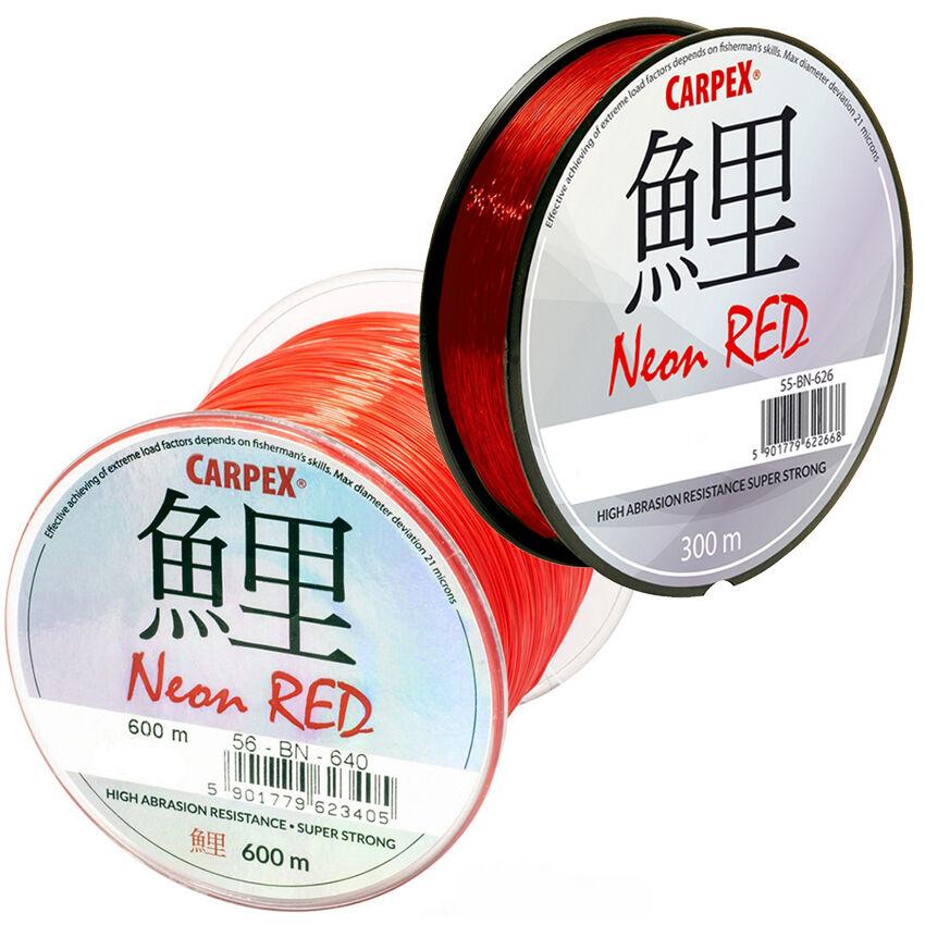 Robinson Angelschnur Karpfenschnur CARPEX Neon Red 300//600m Feederschnur Monofile stark!