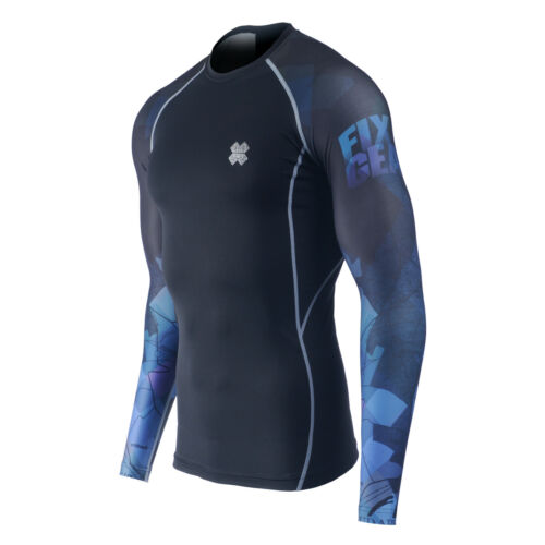 Skins Rash Guard Fixgear Compression Baselayer Shirt UV Sun Protection UPF 50