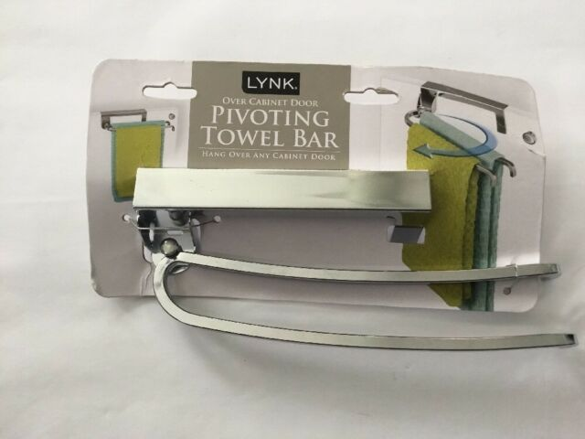 Over Cabinet Door Organizer With Pivoting Towel Bars In Chrome