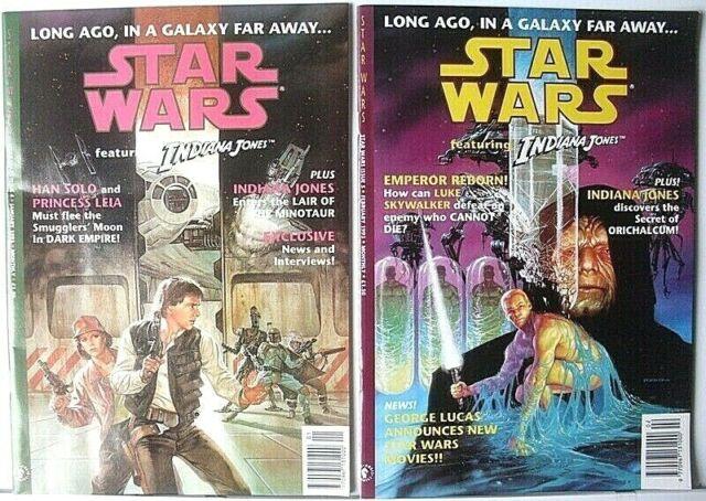2 STAR WARS FT/INDIANA JONES COMIC BOOKS #4/#5>UK>EX QUALITY>FREE U.S. SHIPPING