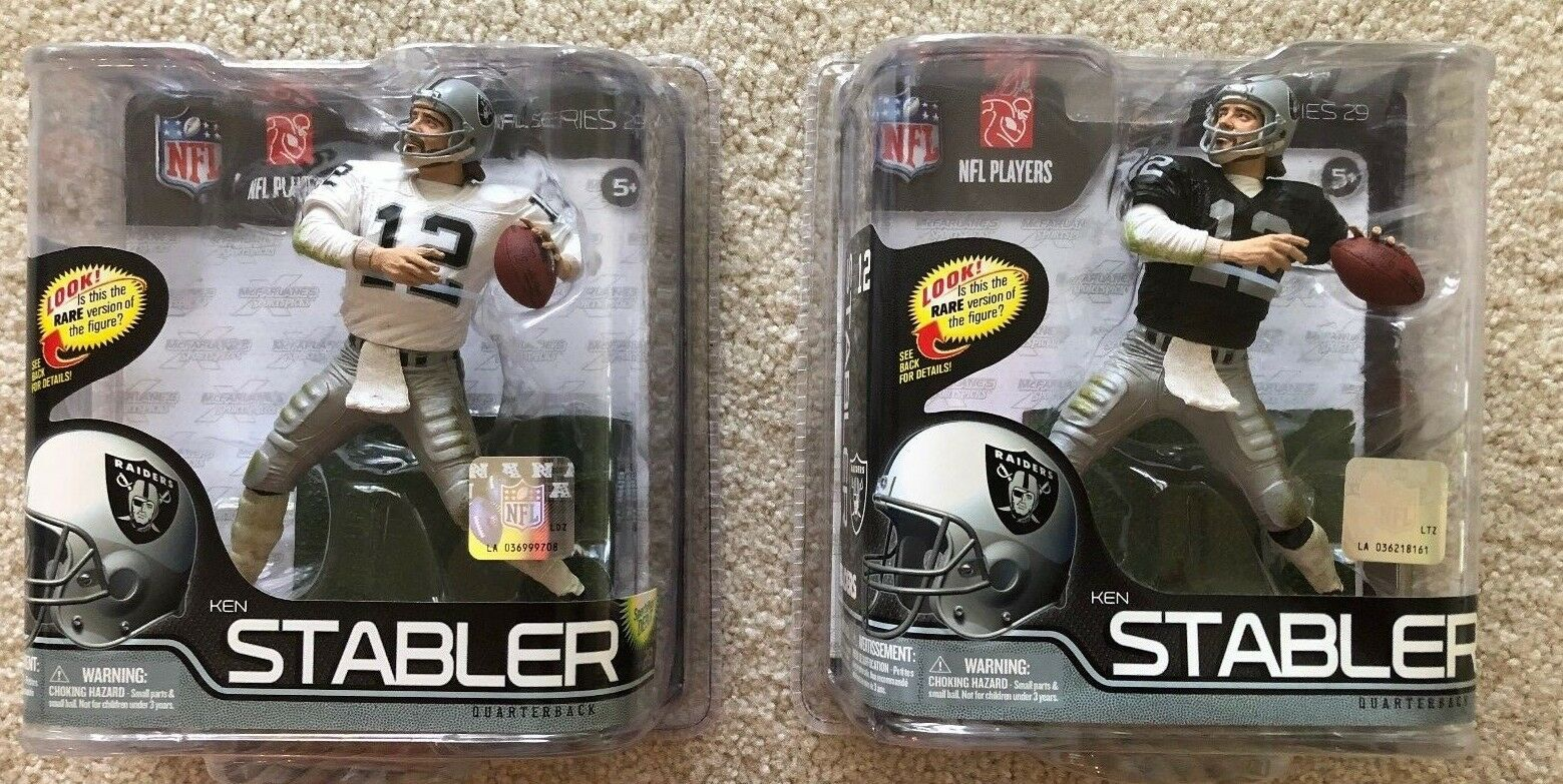 Mcfarlane KEN STABLER FOOTBALL ACTION FIGURES VARIANT AND AND AND DEBUT -  RAIDERS 6b8e60