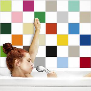 fliesenaufkleber fliesenfolie fliesensticker k che bad 20x20cm in matten farben ebay. Black Bedroom Furniture Sets. Home Design Ideas