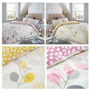 Eucalyptus-Flannel-Floral-Brushed-Cotton-Duvet-Covers-Bedding-Sets-Double-King