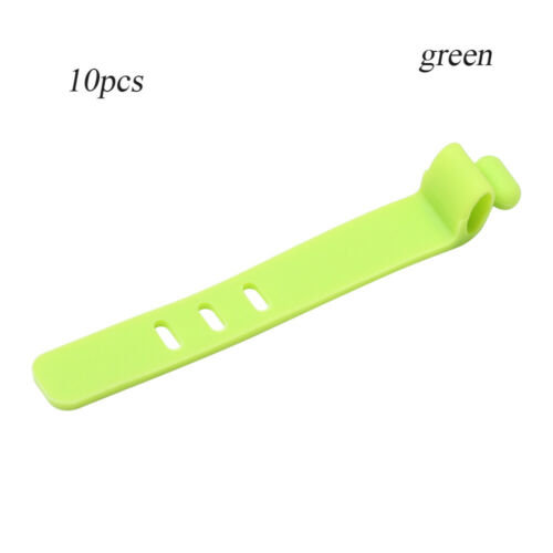 10pcs Silicone Straps Headphones Storage Tape USB Wire Cable Tie Cable Winder