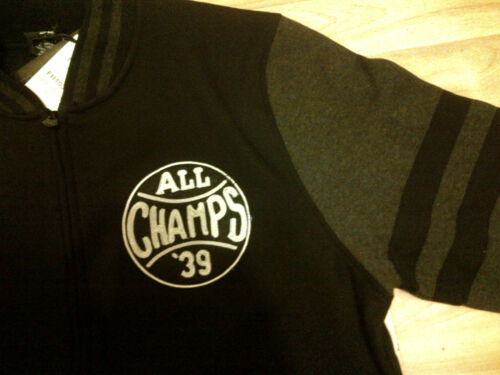 Black Charcoal Gray Long Sleeve Varsity Jacket ALL CHAMPS Varsity Jacket M-XL #2