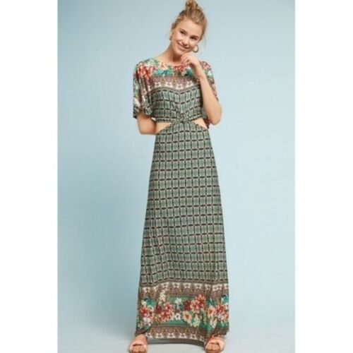 $198 Anthropologie FARM RIO LILA MAXI DRESS   XL new nwt