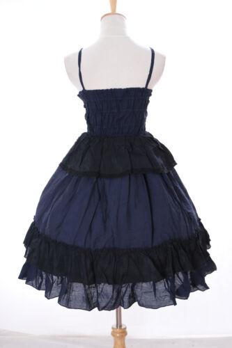 JL-651 blau Rüschen Träger Kleid Victorian Rococo Stretch Gothic Lolita Kostüm