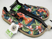 SANUK MENS SIDEWALK SURFERS DONNY BLACK HAWAIIAN T 1016072 BHWT SIZE 11