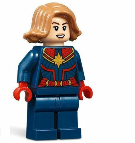 Lego Marvel Super Heroes Capitano Marvel Minifig Da Lego Set #76127 Nuovo
